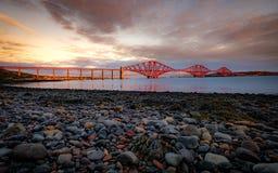 Avanti ponte della ferrovia, Queensferry, Edimburgo fotografia stock libera da diritti