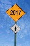 2017 avanti roadsign Immagini Stock Libere da Diritti