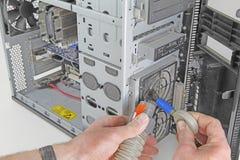 Avanzamento del servizio annuale del controllo sanitario del computer Fotografia Stock Libera da Diritti