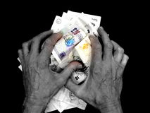 Avarice. A concept image showing avarice or greed Royalty Free Stock Photography