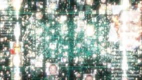 Avaricia social de la conexión de la gente de la red El concepto grande de los datos, inundación de la gente conecta en Internet, libre illustration