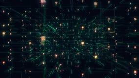 Avaricia social de la conexión de la gente de la red El concepto grande de los datos, inundación de la gente conecta en Internet, ilustración del vector