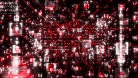 Avaricia social de la conexión de la gente de la red El concepto grande de los datos, inundación de la gente irreconocible conect libre illustration