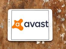 Avast logo för programvaruföretag arkivfoton