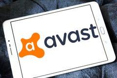 Avast logo för programvaruföretag royaltyfri bild