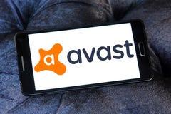 Avast logo för programvaruföretag fotografering för bildbyråer