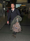 Avatar actor Sam Worthington at Sydney airport Stock Photo