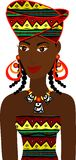 Avatar africain de fille Photos libres de droits