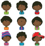 Avatar afroamericano dei ragazzi Fotografia Stock