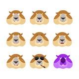 Avatar ajustado do emoji de Groundhog cara triste e irritada culpado e sono Fotos de Stock