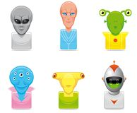 Avatar alien icons Royalty Free Stock Photos