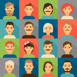 Avatar app icons. User hipster face set Royalty Free Stock Images
