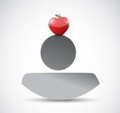 Avatar with apple illustration design. Over a white background vector illustration