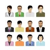 Avatar asiático del hombre ilustración del vector
