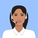 Avatar av den indiska kvinnan Arkivbild