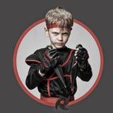 Avatar av den unga ninjaen arkivfoton