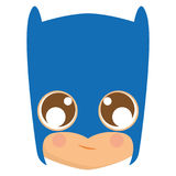 Avatar of batman. Isolated avatar of batman on a white background, vector illustration Stock Image