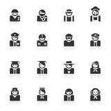 Avatar (beroep) Pictogrammen - minimoreeks Stock Afbeeldingen