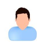Avatar blanc vectoriel de visage Image stock