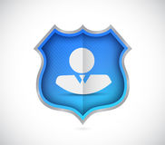 Avatar bluesecurity shield Royalty Free Stock Images