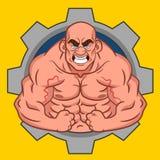 Avatar bodybuilder royalty-vrije illustratie