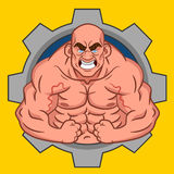 Avatar bodybuilder. Vector caricature. funny character Stock Photo