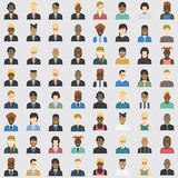 Avatar business and private set 64 item Royalty Free Stock Photo