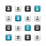 Avatar buttons Stock Photo