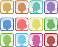 Avatar buttons Royalty Free Stock Images