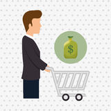 Avatar buyer design Stock Images