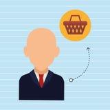 Avatar buyer design Stock Photography
