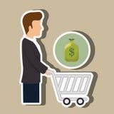 Avatar buyer design Stock Image