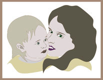 Avatar córka i matka Obrazy Royalty Free