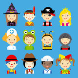 Avatar carnival children Royalty Free Stock Image