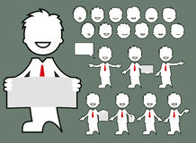 Avatar - character business poses. Avatar. Set of isolated business character poses -  illustration Stock Images