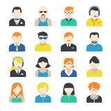 Avatar Character Icons Set Stock Photography