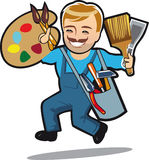 Avatar character,master holds tools, easy repair Stock Images