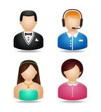 Avatar Characters Set Royalty Free Stock Image