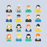 Avatar Characters Stickers Set Royalty Free Stock Image