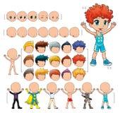 avatar chłopiec ilustraci odosobneni przedmioty Obrazy Stock