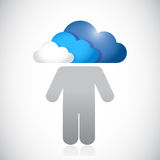 Avatar with a cloud head. illustration design Stock Photography