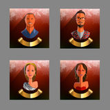 avatar Coleção do ` s do ano novo dos avatars dos povos Vetor ilustração stock