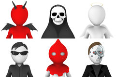 avatar 3d dei personaggi dei cartoni animati royalty illustrazione gratis