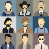 Avatar d'hommes illustration libre de droits