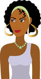 Avatar de fille d'Afro Photo stock