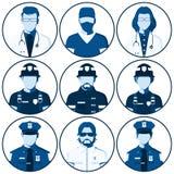 Avatar de la gente de servicios de emergencia Fotos de archivo