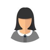 Avatar de la muchacha de la mujer joven Aislado stock de ilustración