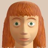 Avatar de la mujer del Redhead Fotos de archivo