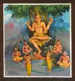 Avatar de Lord Shiva au temple de Mahalingeswarar, Dhakshinamoorth photo libre de droits