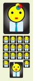 Avatar de reeks van het arbeiderspictogram Stock Afbeelding